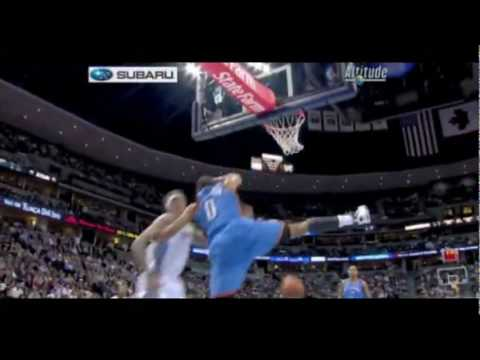 Russell Westbrook Rookie Highlights (Raw nasty beast)