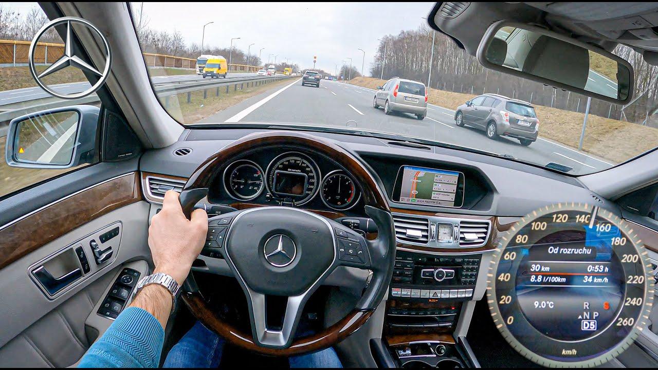 2013 Mercedes E W212 (250 CDI 204 HP)   POV Test Drive #709 Joe Black