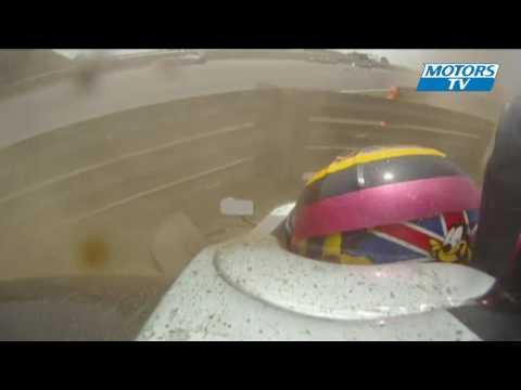 Crash en Formula Palmer Audi