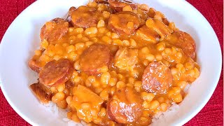 How to make Pork and Beans with Rice from scratch