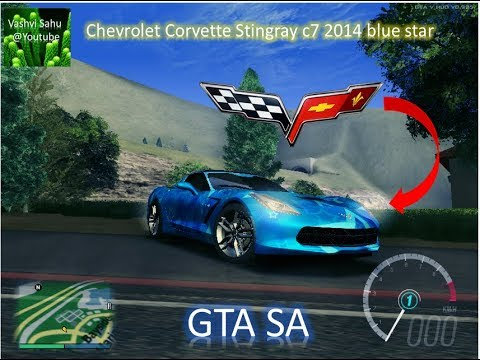Chevrolet Corvette Stingray C7 2014 Blue Star 273 Mb Gta Sa Pc