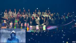 181201 MMA  Reaction to BTS stage  Fake Love+Airplane pt 2+IDOL ALL IDOLS