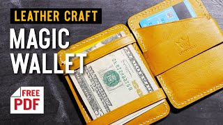 [가죽공예]요술지갑 만들기+패턴 ; [leather c…