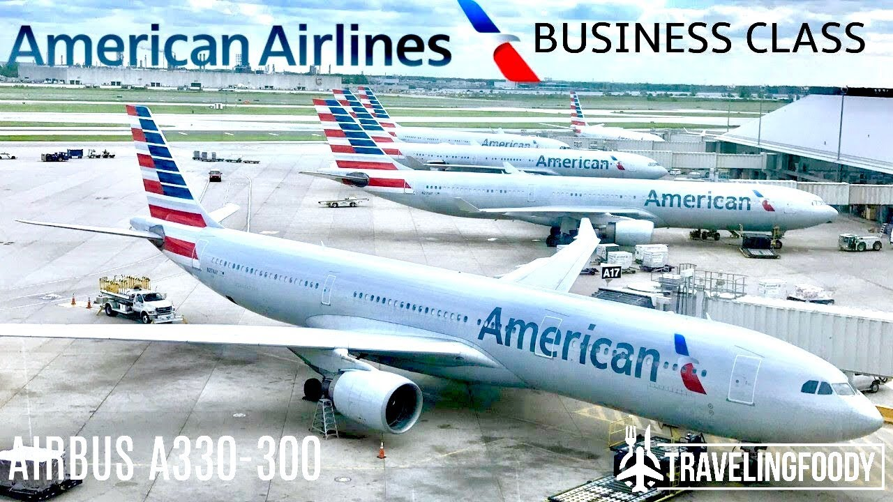 American Airlines Business Class Airbus A330 Athens To