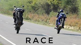 Yamaha R15 V3 VS Pulsar RS200 BS4   RACE   Top End   Highway Battle   Unexpected !!