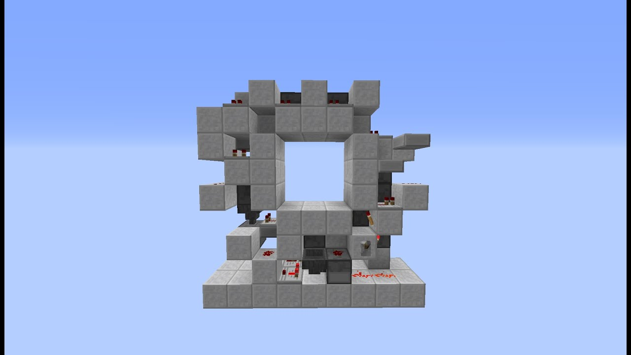 Porte 3x3 en spirale minecraft tutoriel youtube for Porte 3x3 minecraft