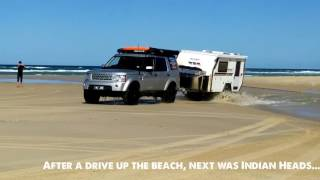 Rhinomax Scorpion off road caravan test drive on Fraser Island