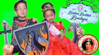 ビビディ・バビディ・ブティックで 最新 ディズニープリンセス エレナに なりきり!ナイトも!海外 Disney Princess ELENA Bibbidi Bobbidi Boutique えれな 検索動画 17