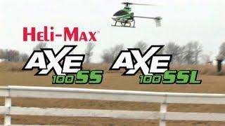 spotlight heli max axe 100 ss axe 100 ssl brushless aerobatic helicopters