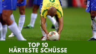 Die 10 härtesten Schüsse im Fussball aller Zeiten!