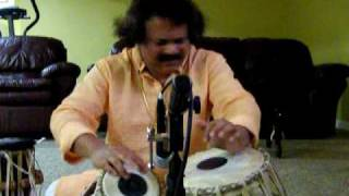 Pradip Ghosh - Solo Tabla Lesson - Rupak Taal