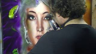 Atelier Meijer - Airbrush Art - Medusa airbrush PART 2