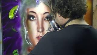 Atelier Meijer - Airbrush Art - Medusa airbrush PART 2