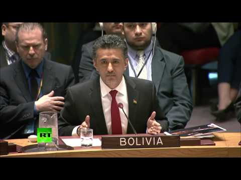 Bolivia: voice of reason at UN envoy on Syria strike (US acted Illegally)