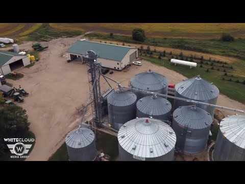 An Aerial View of Our Farm Before Harvest