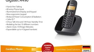 Gigaset A490 Cordless Landline Phone | Black | UnBoxing & First impresion