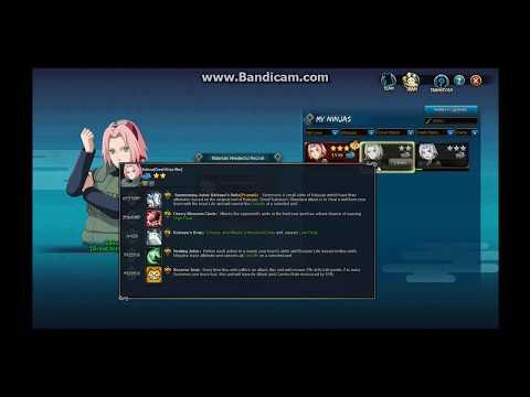 Naruto Online: Sakura (Great Ninja War) F2P teams(For each main)