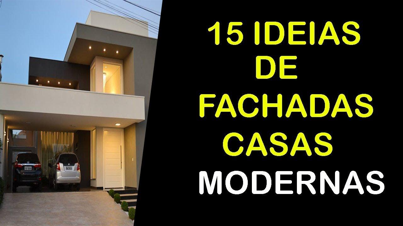 15 ideias de fachadas de casas modernas t rreas pequenas e for Fachadas minimalistas de casas pequenas