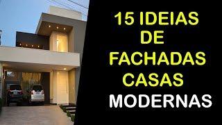 15 IDEIAS DE FACHADAS DE CASAS MODERNAS TÉRREAS PEQUENAS E DE ALTO PADRÃO YouTube