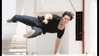Tiger Shroff Shows off his Parkour Stunts