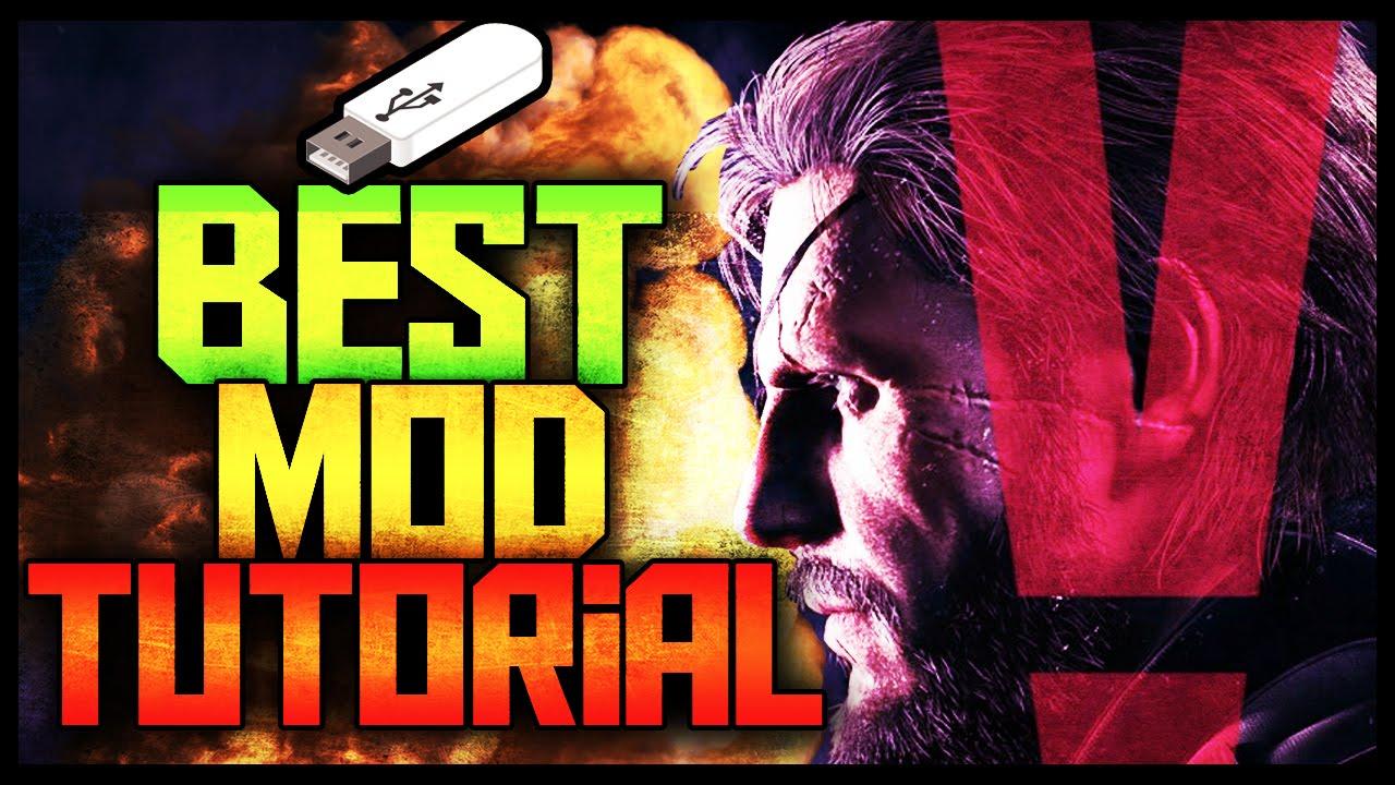 Metal Gear Solid V Best Usb Mod Tool Tutorial 2016 Youtube