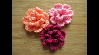 Crochet flower for baby beanie hat How to crochet tutorial - Happy Crochet Club