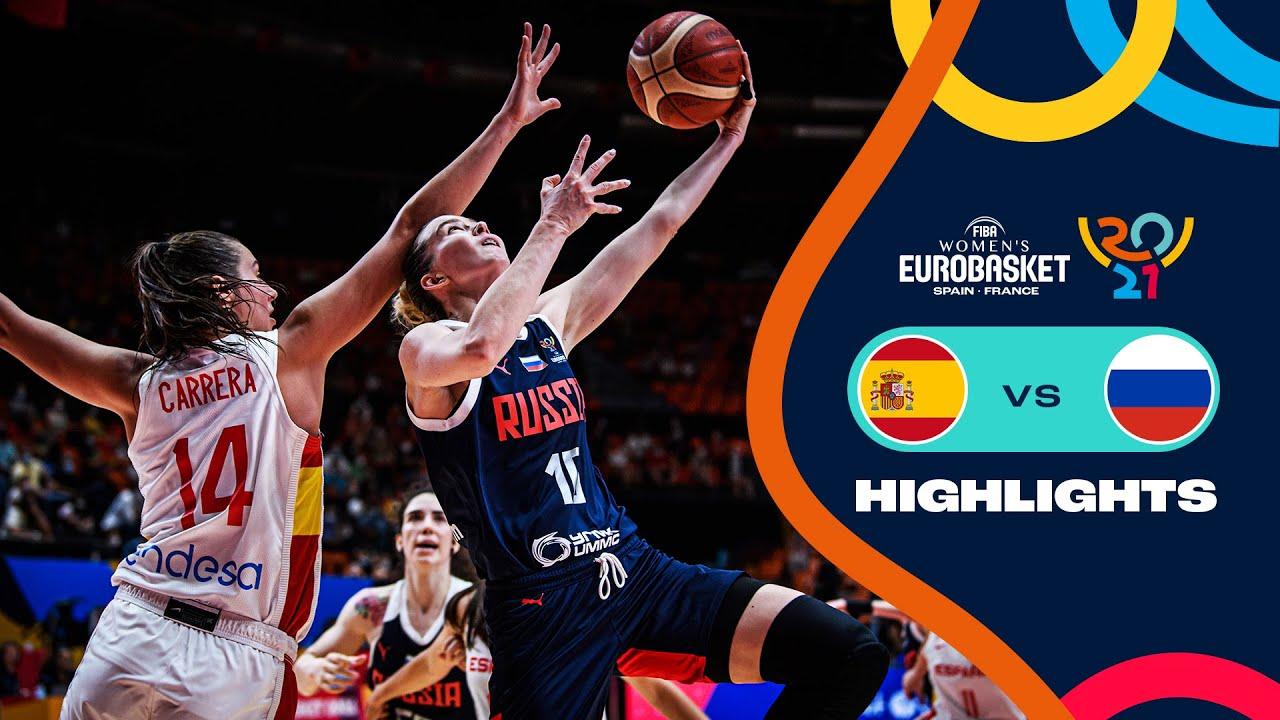Spain - Russia   Highlights - FIBA Women's EuroBasket 2021