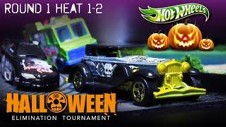 Halloween Hot Wheels Car Race 2019 (Round 1 Heat 1-2) Diecast Racing