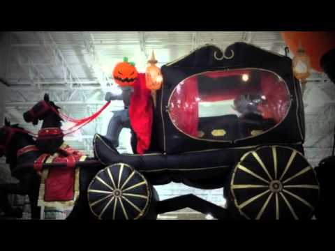 headless horseman inflatable halloween yard decoration by grandlin road - Inflatable Halloween Yard Decorations