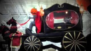 Headless Horseman Inflatable Halloween Yard Decoration By Grandlin Road