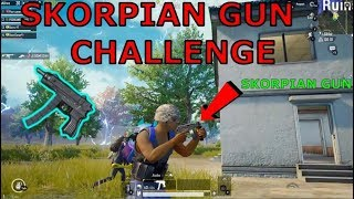 USE ONLY SKORPIAN GUN CHALLENGE IN PUBG MOBILE || THIS GUN IS NEW M4