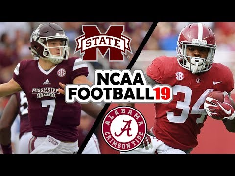Mississippi State @ Alabama - 11-10-18 NCAA Football 19 Simulation (UPDATED ROSTERS for Spring 2018)