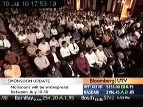 Dr Ranjan Chakravarty speaks on Bloomberg - UTV