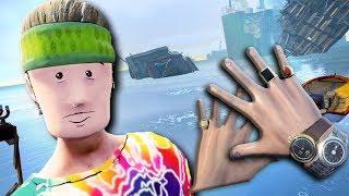 ПОСТРОЙ МОСТ И НЕ УПАДИ В ВОДУ В ВР! - Sam and Dan Floaty Flatmates VR