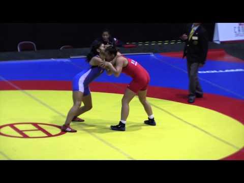 2014 Junior Pan-American Championships: 63 kg Olivia Seppeni (USA) vs. Jessica Olivares (PER)