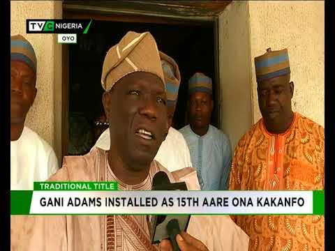 Gani Adams instaled 15th Aare Ona Kakanfo of Yorubaland
