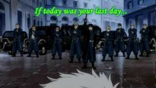 Fullmetal Alchemist - [AMV] Roy Mustang If today...