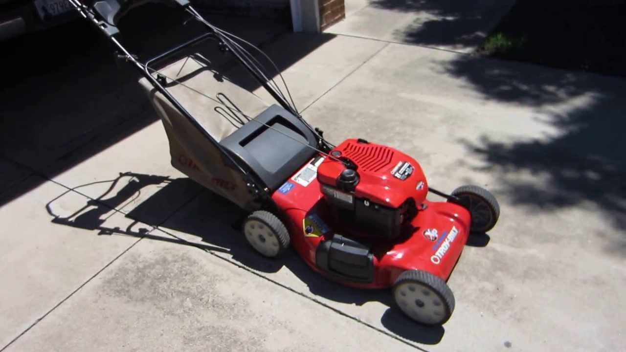 Troy Bilt Xp Self Propelled 21 Inch Mower Youtube