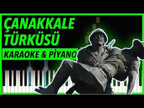 Çanakkale Türküsü | KARAOKE & Piyano Notaları 🎹 (Söz Dizi Müziği)