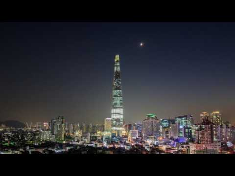 Lotte World Tower Day to Night