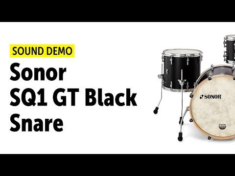 """Sonor SQ1 GT Black - 20"""",12"""",14"""" & 14"""" Snare - Sound Demo"""