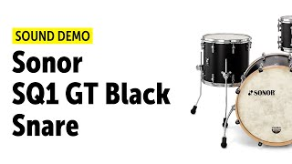 "Sonor SQ1 GT Black - 20"",12"",14"" & 14"" Snare - Sound Demo"