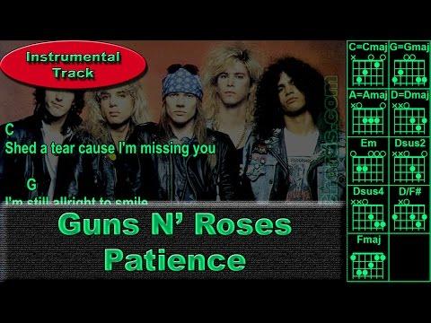 Guns N' Roses - Patience - Instrumental - Guitar Chords (0006-B1)