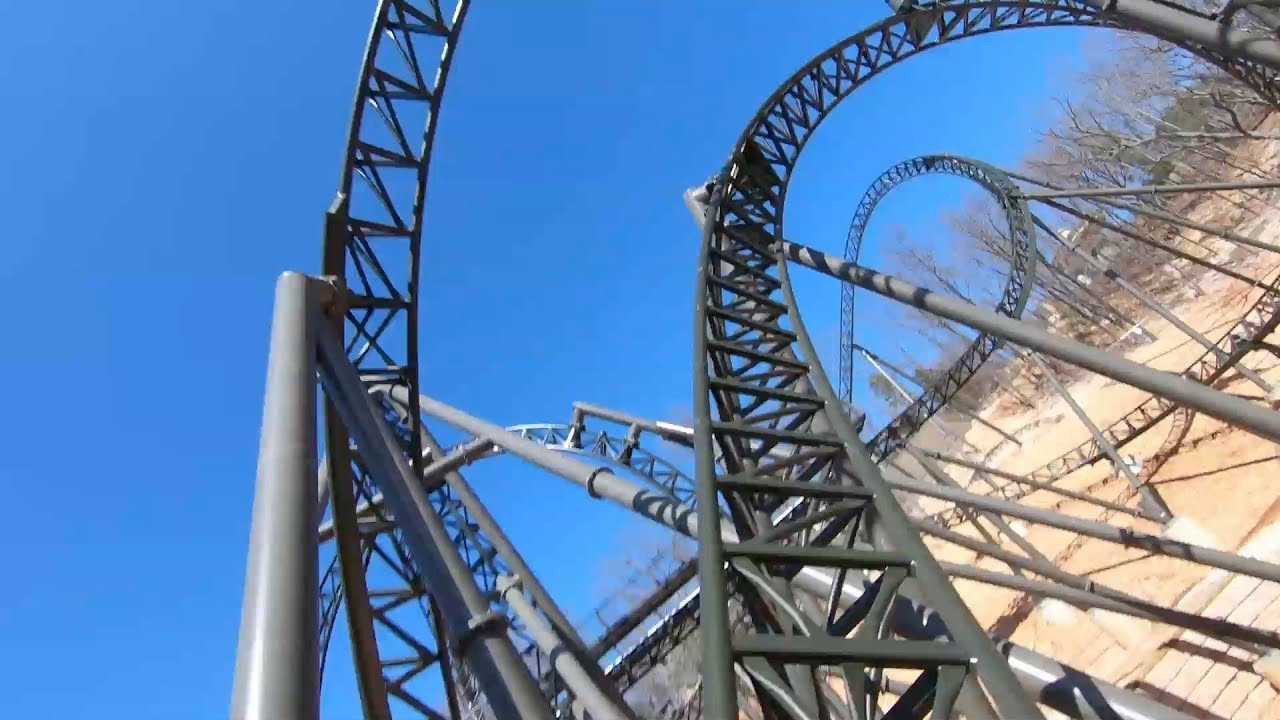 Time Traveler front seat on-ride HD POV Silver Dollar City
