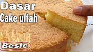 #cake CARA MEMBUAT CAKE DASAR UNTUK ULANG TAHUN #VIRAL