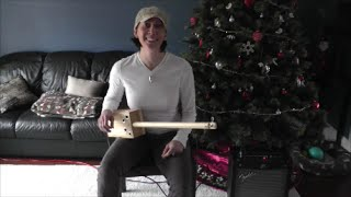 Short Diddley Bow Demo 1 String Guitar Box Guitar DIY