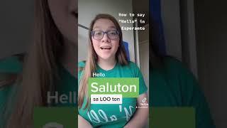 """How to say """"Hello"""" in Esperanto #shorts"""
