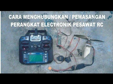 Tutorial Pemasangan perkabelan elektronik pesawat rc