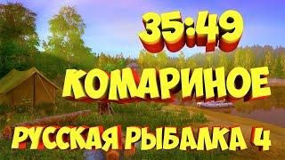 русская рыбалка 4 Уловистая точка озеро Комариное рр4 фарм Алексей Майоров