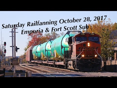 Saturday Railfanning on the BNSF Emporia and Fort Scott Sub on October 28, 2017